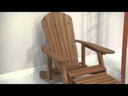 big daddy reclining adirondack chair with pull out ottoman