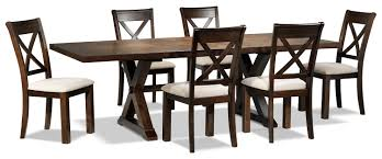 claira 7 piece dining room set rustic brown leon u0027s