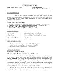 Best Tech Resume by M Tech Fresher Resume