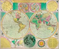 Colored World Map by Antique World Map C1790s U2013 If Conservatives Go Mad How Will We Be