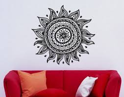 Indian Flower Design Dreamcatcher Dream Catcher Feathers Housewares Wall Vinyl