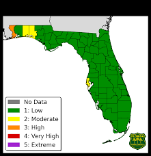 Avon Park Florida Map by Florida Forest Service Fire Danger Index Map And Report