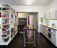 Counter Height Kitchen Islands Sydney Counter Height Kitchen Contemporary With Floating Shelves