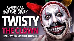a creepy halloween makeup and mask tutorial for twisty the clown