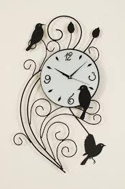 cozy birds wall clock 134 karlsson diy birds wall clock bird