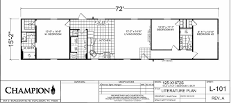 1 Bedroom Modular Homes Floor Plans by Champion Homes Single Wide Floor Plans