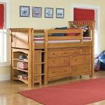Kids Room Shelving Ideas With Classic Wooden Loft Bed With Nice ...