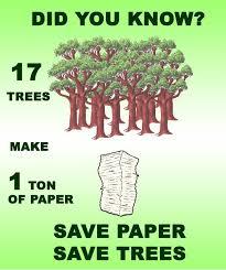 SAVE TREES!!!