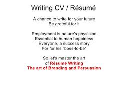 Writing CV     SlideShare