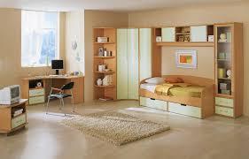 Wall Mounted Cupboards Bedroom Exquisite Cream Theme Children Room Decoration Interior