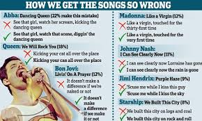 Genius app for Android shows words for ANY song you     re playing     Daily Mail Pictured are the most common misheard lyrics  Human speech occurs without breaks  when one