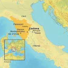 Tuscany Map Ahi International Tuscany Cortona