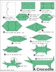 Origami Crocodile en.origami-club.com