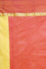 sudarshan colorful designer saree yellow ajs279 mn cotton