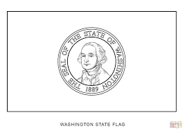 washington state flag coloring page free printable coloring pages