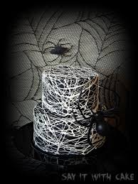 simple halloween cake spider web cake say it with cake