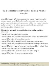 special ed teacher resume   Template Resume Resource