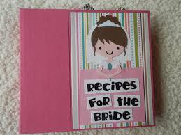 6x6 bridal shower recipe book scrapbook album