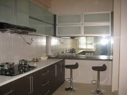 magnificent frosted glass door kitchen cabinet storage feat mirror