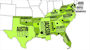 Southeast Map Southern Capitals U0026 States Youtube