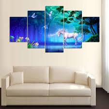 fantasy unicorn 5 pieces canvas home decor u2013 home decor craft