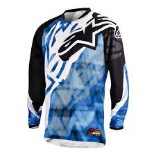 black motocross jersey alpinestars racer motocross jersey black blue motorcycle