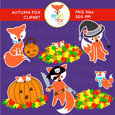 cute halloween chevron powerpoint background clip art autumn fall animal fox halloween activities