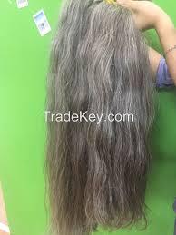 Grey Human Hair Extensions by Grey Hair Bulk Hair Vietnam Hair 100 Human Hair Extensions 100