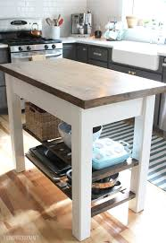 Stain Unfinished Kitchen Cabinets by Diy Kitchen Island From New Unfinished Furniture To Antique