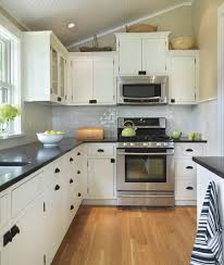 L Shaped Small Kitchen Designs L Shaped Kitchen Design Featured Great White Cabinet Color And