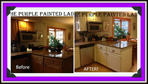 chalk paint kitchen cabinets before and after chalk paint cabinets