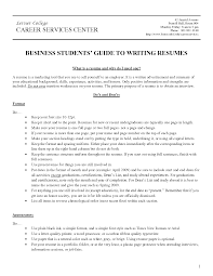 college student objective for resume lerner college career services center with business students guide lerner college career services center with business students guide to writing housekeeping resume