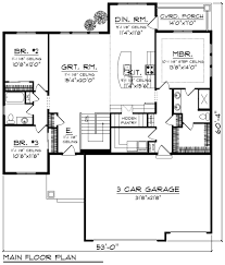 ranch style house plan 3 beds 2 baths 1796 sq ft plan 70 1243