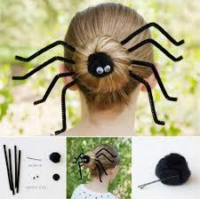 wonderful diy halloween spider bun hairstyle diy halloween