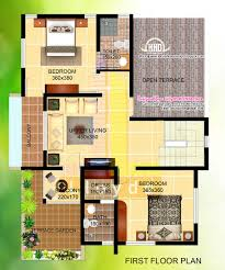 2000 sq feet villa floor plan and elevation house design plans