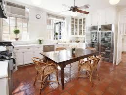 Tiled Kitchen Table by Terra Cotta Tile Kitchen Floor Design Ideas Latest Kitchen Ideas