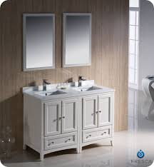 Fresca Oxford FVNAW Traditional Double Sink Bathroom - 48 bathroom vanity antique white