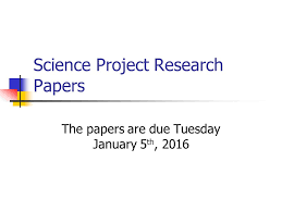 Example of a science fair research paper example of science fair research paper  example of a science research paper