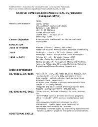 Sample Resume Reverse Chronological Order    Resume Formater Best Reverse Chronological Resume Example