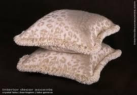 custom pillows kravet couture mohair leopard lee jofa velvet