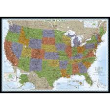 Large Map Of Usa by United States Classic Wall Map Poster Size And Laminated