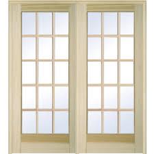 mmi door 74 in x 81 75 in classic clear glass full lite classic clear glass full lite unfinished poplar wood interior