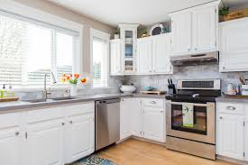Beautiful Kitchen Cabinets by Painting Kitchen Cabinets Antique White X Rend Scenic Beautiful