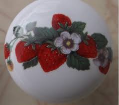 ceramic cabinet knobs with strawberrys strawberries