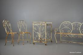 Cast Iron Patio Set Table Chairs Garden Furniture - cast iron patio furniture for sale g099 s pair vintage french