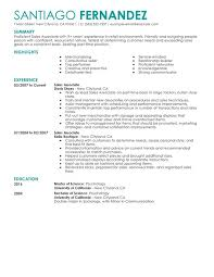 Unforgettable Part Time Sales Associates Resume Examples to Stand