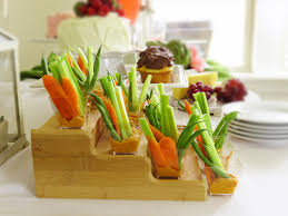 pink and green garden party bridal shower red pepper hummus