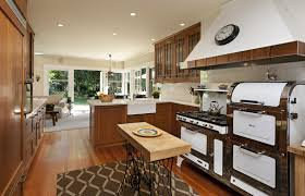 kitchen classic old country home design mahogany varnished
