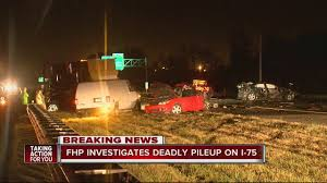 Bruce B by One Dead In Semi Involved Five Vehicle Traffic Crash On I 75 Near