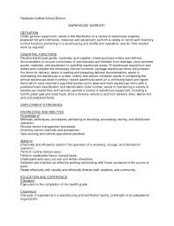 warehouse worker resume objective warehouse job resume free resume example and writing download